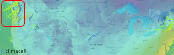 weather map forecast in north west usa