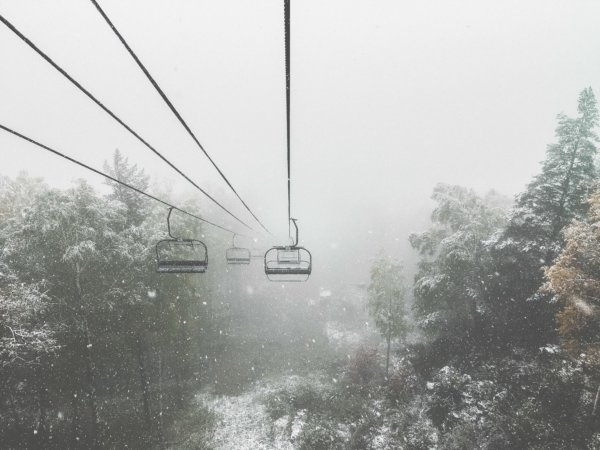 skiing stopped because of bad weather