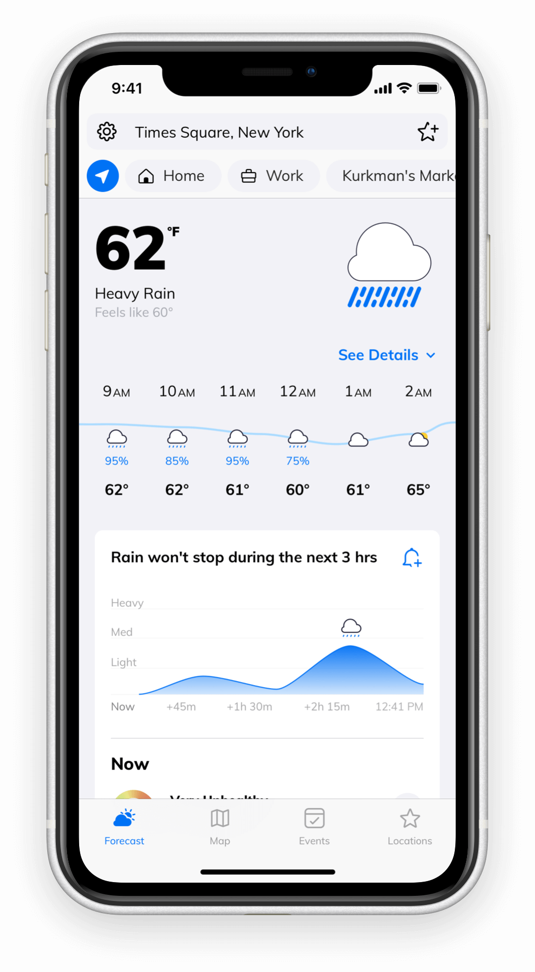 ClimaCell weather forecasting app