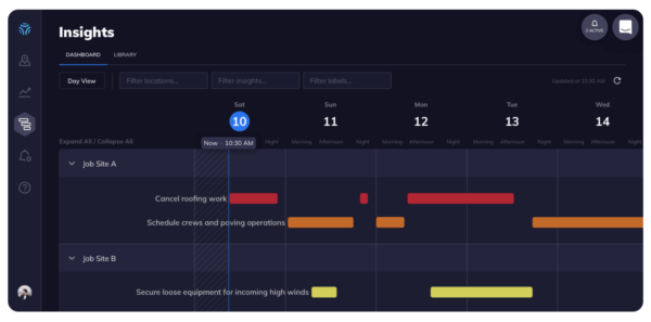 climacell insights dashboard construction