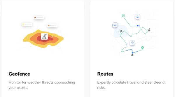 geofence routes road risk api climacell