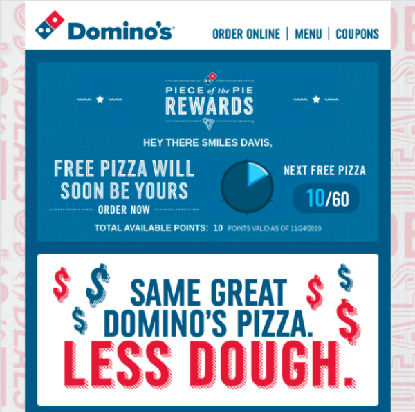 dominos email