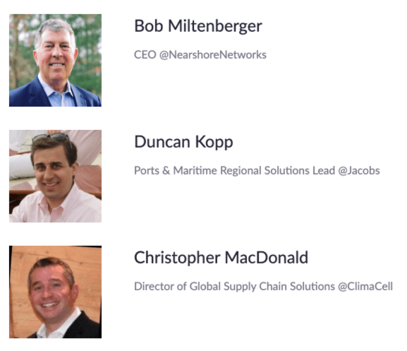 climaseries port operations webinar speakers
